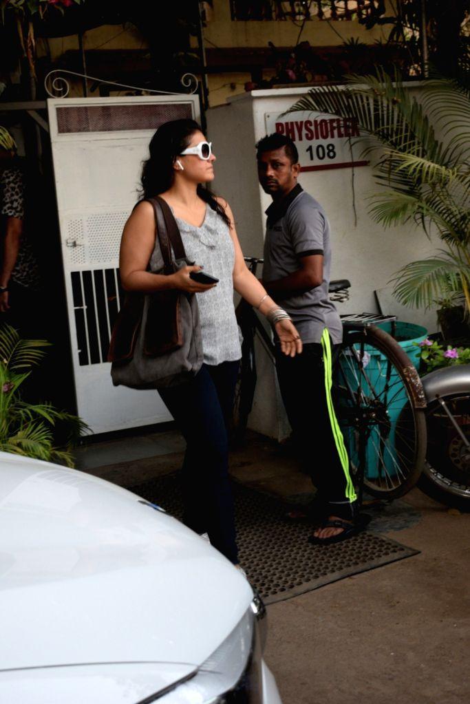 Actress Kajol Devgn seen at a health club in Mumbai's Versova on March 30, 2019. - Kajol Devgn
