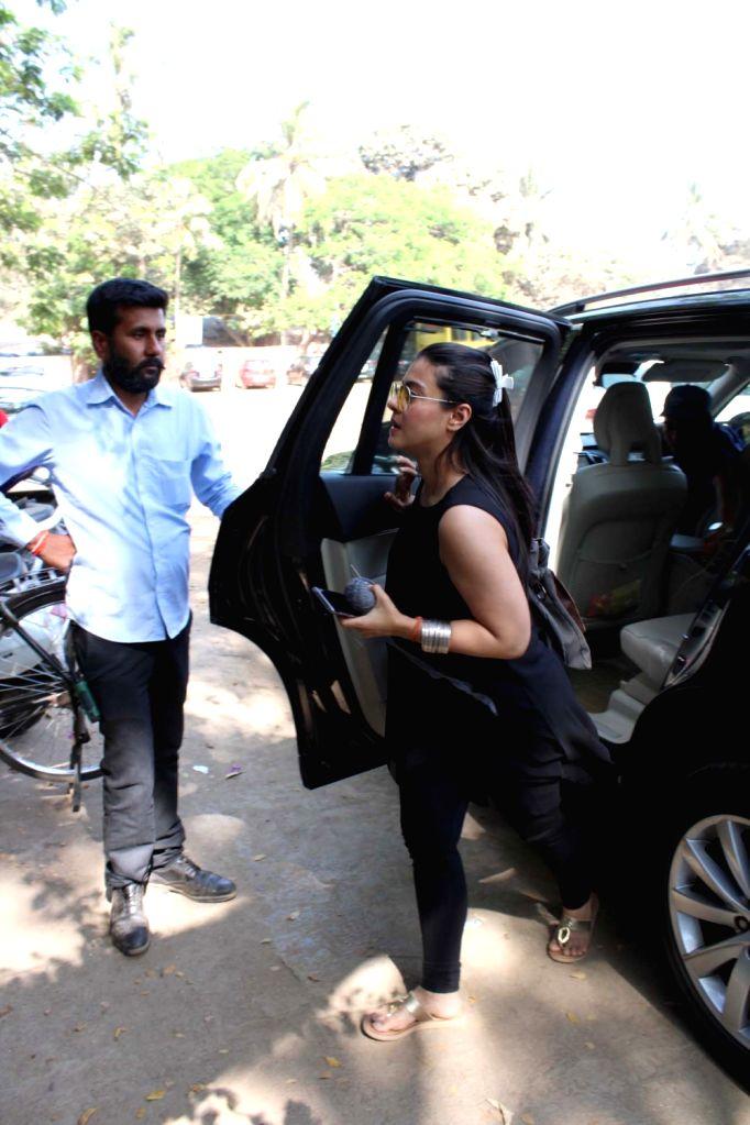 Actress Kajol Devgn seen at Mumbai's Versova, on March 13, 2019. - Kajol Devgn