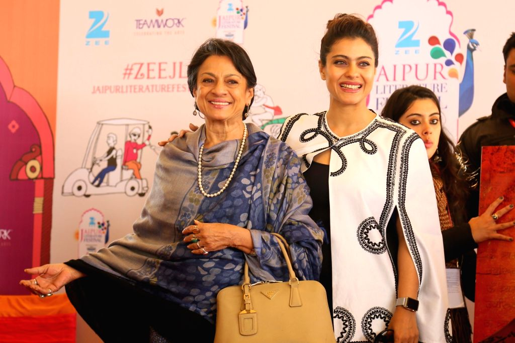 Actress Kajol Devgn with her mother Tanuja Mukherjee. (Photo: Ravi Shankar Vyas/IANS) - Kajol Devgn and Tanuja Mukherjee