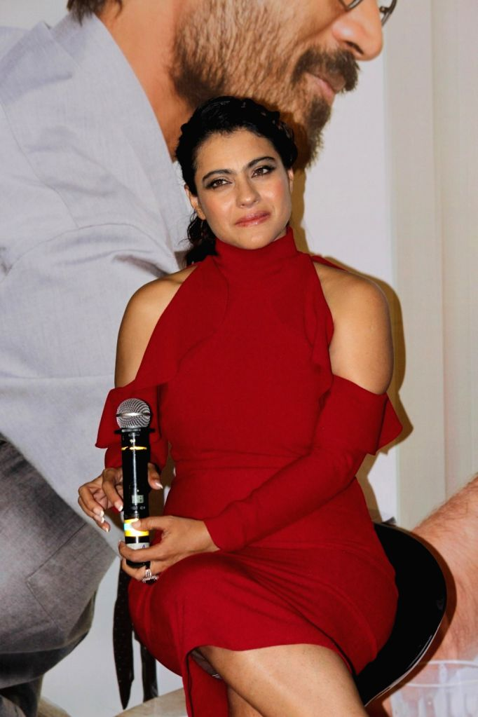Actress Kajol during the music launch of film VIP 2 in Mumbai, on June 25, 2017. - Kajol