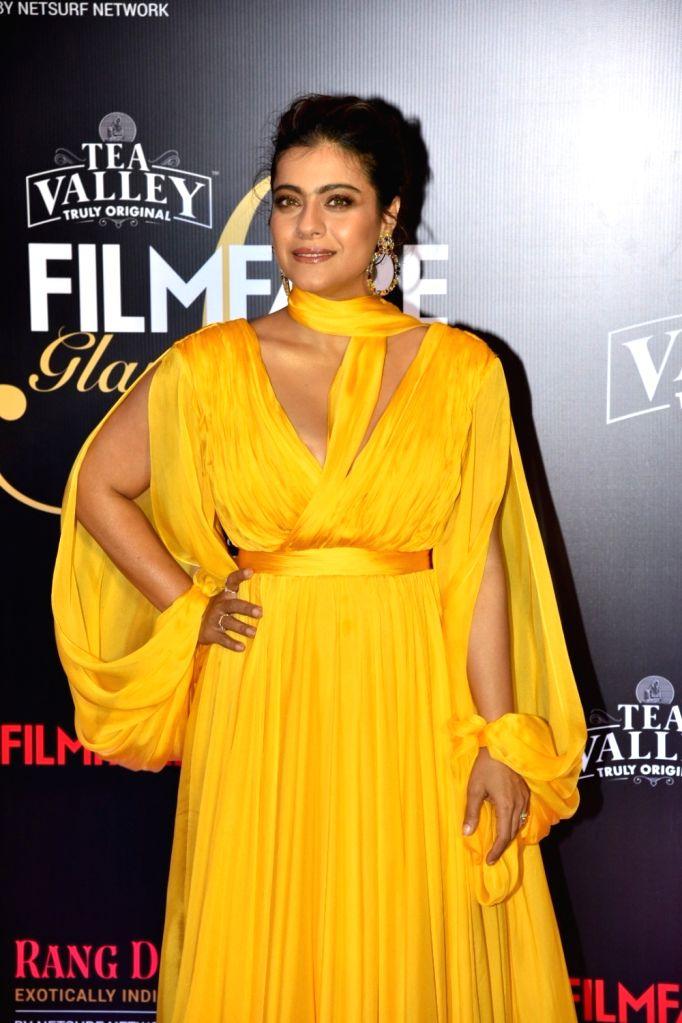 Actress Kajol on the red carpet of Filmfare Glamour And Style Awards 2019, in Mumbai on Feb 11, 2019. - Kajol