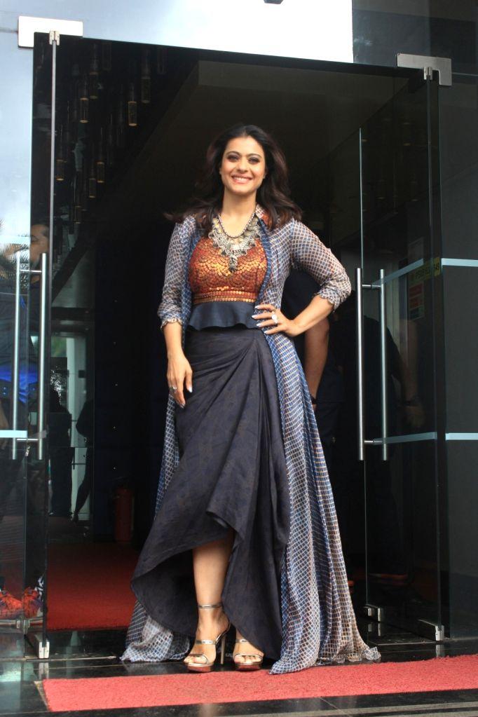 "Actress Kajol on the sets of reality television show ""Dil Hai Hindustani 2"" in Mumbai on Aug 6, 2018. - Kajol"