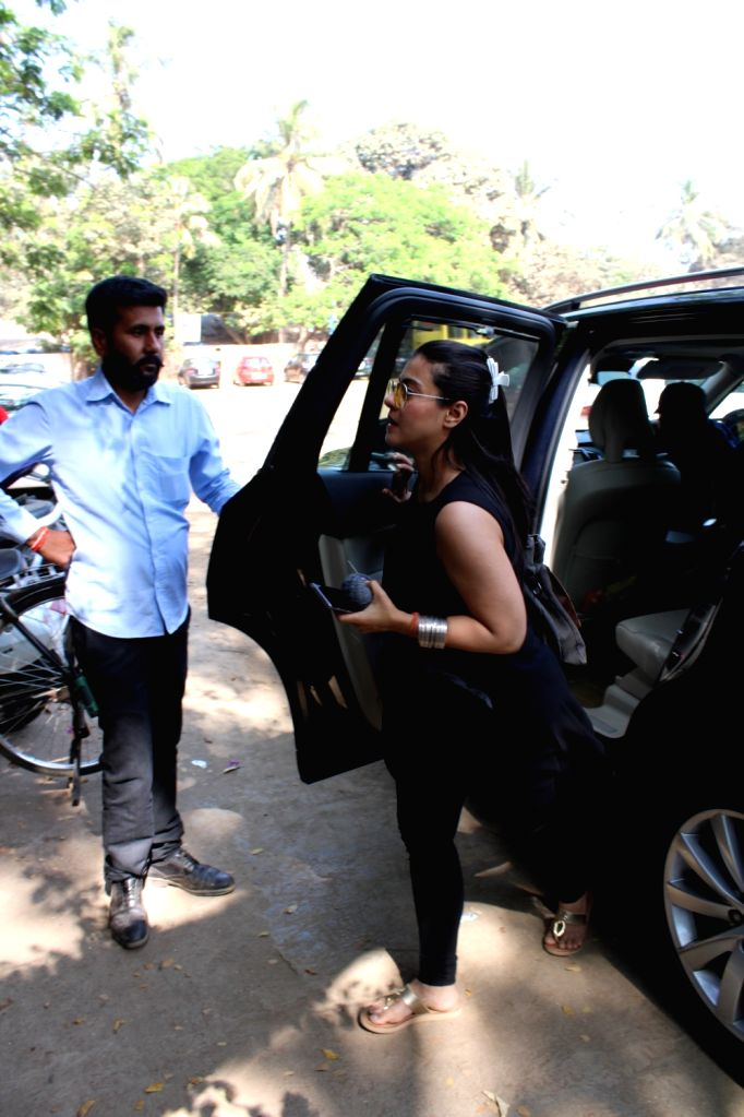 Actress Kajol seen in Mumbai's Versova, on March 13, 2019. - Kajol