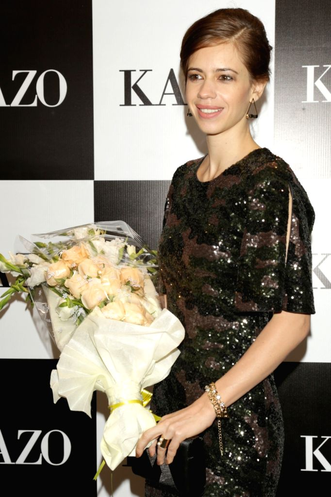 Actress Kalki Koechlin during the launch of KAZO's Autumn/Winter-2016 collection in New Delhi on Aug 23, 2016. - Kalki Koechlin