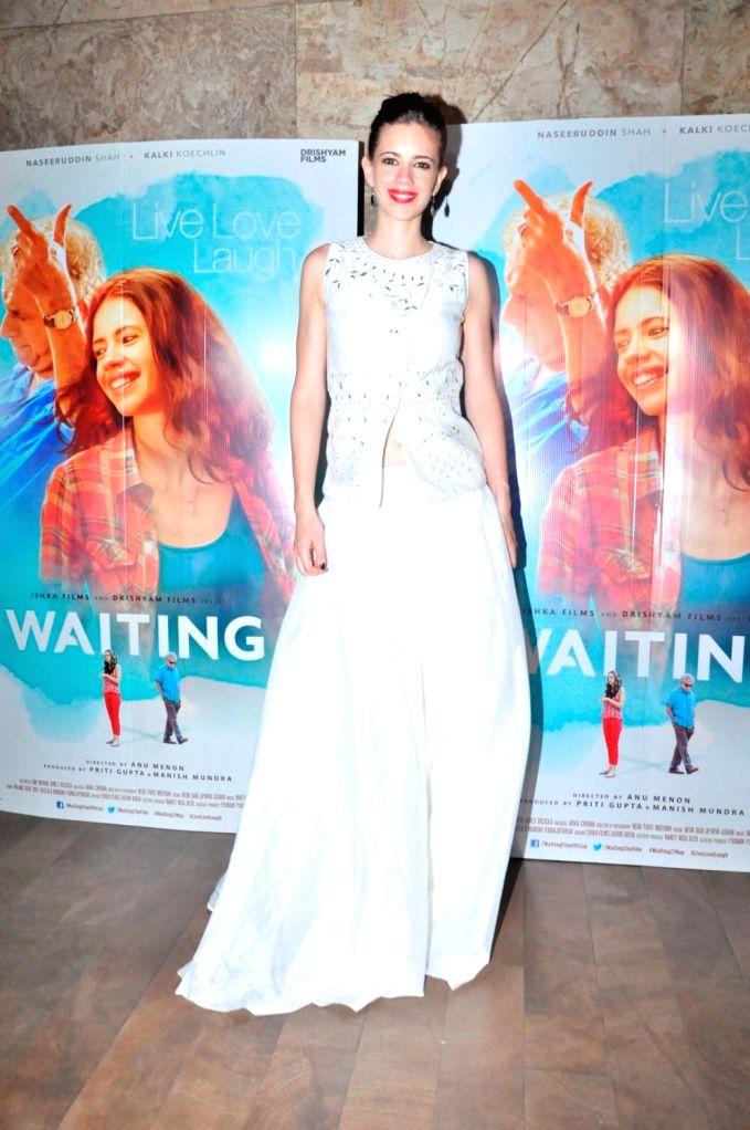 Actress Kalki Koechlin during the screening of film Waiting, in Mumbai, on May 27, 2016. - Kalki Koechlin