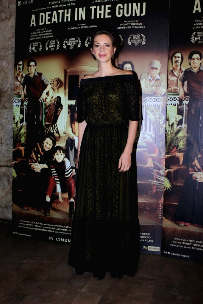 Actress Kalki Koechlin during the screening of film A Death in The Gunj in Mumbai on May 29, 2017. - Kalki Koechlin