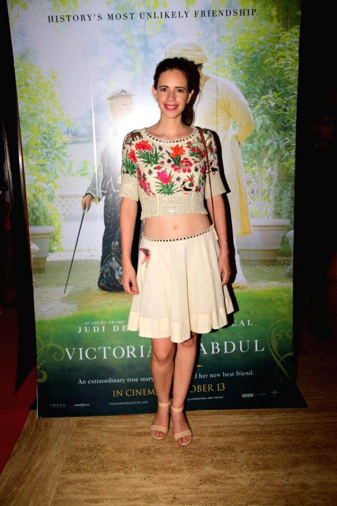 "Actress Kalki Koechlin during the special screening of film ""Victoria & Abdul"" in Mumbai on Oct 5, 2017. - Kalki Koechlin"