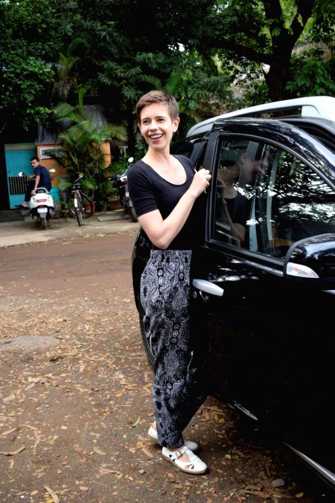 Actress Kalki Koechlin seen at Mumbai's Versova on Aug 10, 2018. - Kalki Koechlin