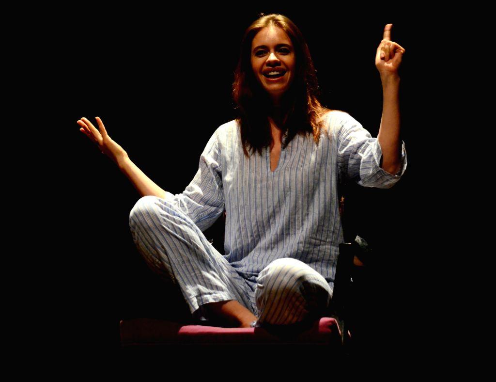 "Actress Kalki Koechlin stages her play ""The Truths of Womanhood"" in Guwahati, on Sept 18, 2016. - Kalki Koechlin"