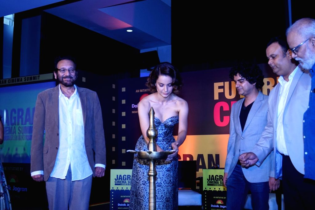 "Actress Kangana Ranaut and Director Shekhar Kapur during the ""Jagran Cinema Host Summit"" to Discuss Future of Film in Mumbai on Sept 15, 2017. - Kangana Ranaut"