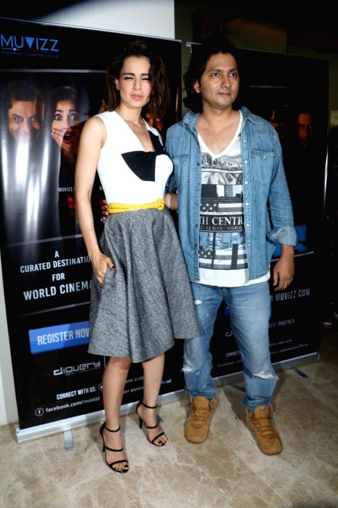 Actress Kangana Ranaut and filmmaker Shirish Kunder during the world premiere of the film Kriti in Mumbai on June 22, 2016. - Kangana Ranaut