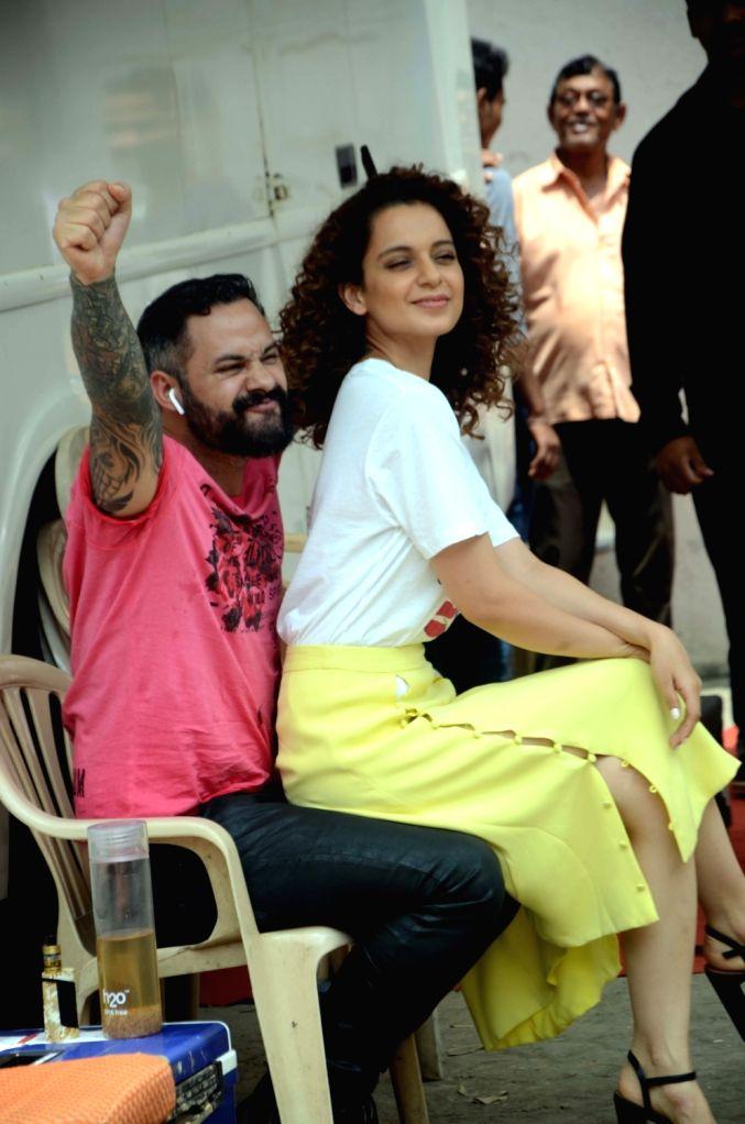 Actress Kangana Ranaut at Mehboob Studio in Bandra of Mumbai on Sept 7, 2017. - Kangana Ranaut