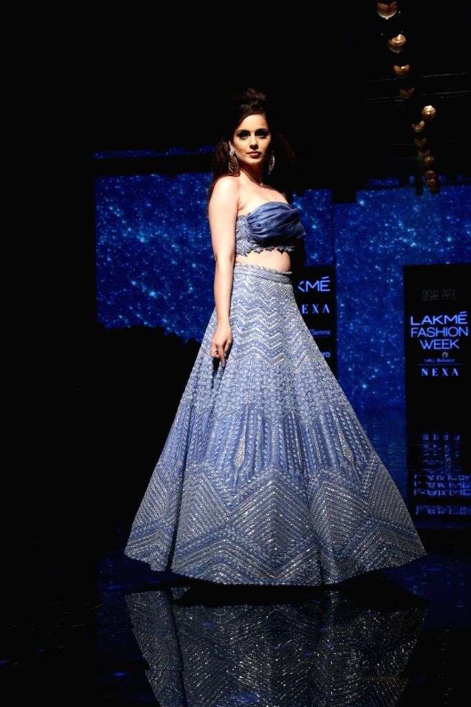 Actress Kangana ranaut at the Lakme Fashion Week Winter/Festive 2019 in Mumbai on Aug 25, 2019. - Kangana