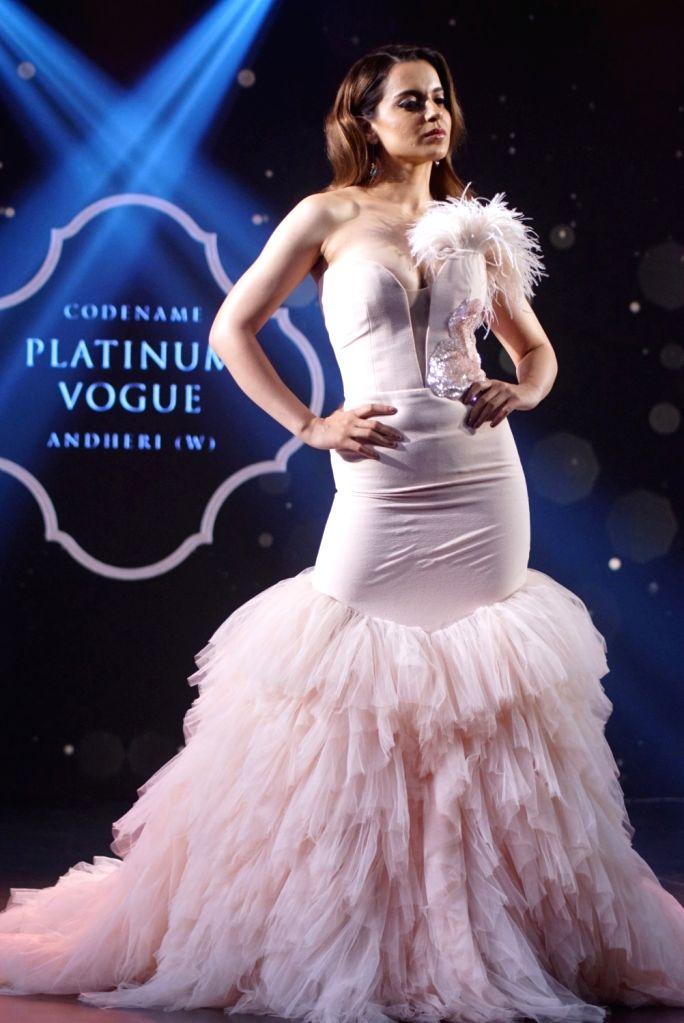 Actress Kangana Ranaut at the launch of Platinum Vogue in Mumbai on July 27, 2018. - Kangana Ranaut