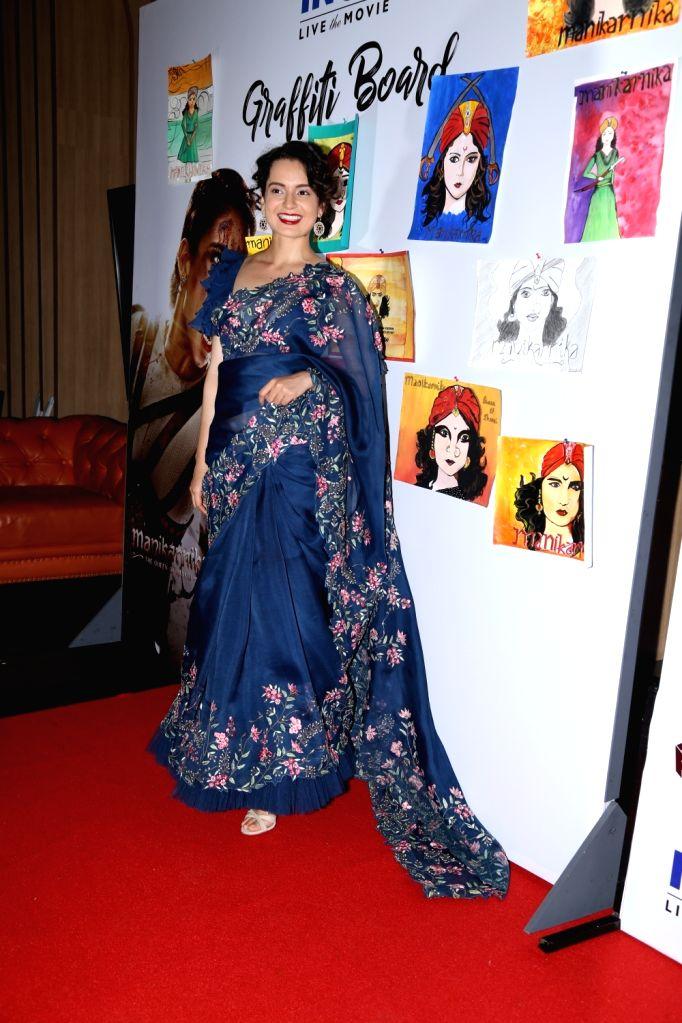 "Actress Kangana Ranaut at the special screening of her movie ""Manikarnika: The Queen of Jhansi"" organised for school students in Mumbai, on Feb 7, 2019. - Kangana Ranaut"