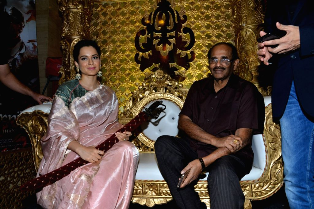 "Actress Kangana Ranaut at the trailer launch of her upcoming film ""Manikarnika: The Queen of Jhansi"" in Hyderabad on Jan 4, 2019. - Kangana Ranaut"