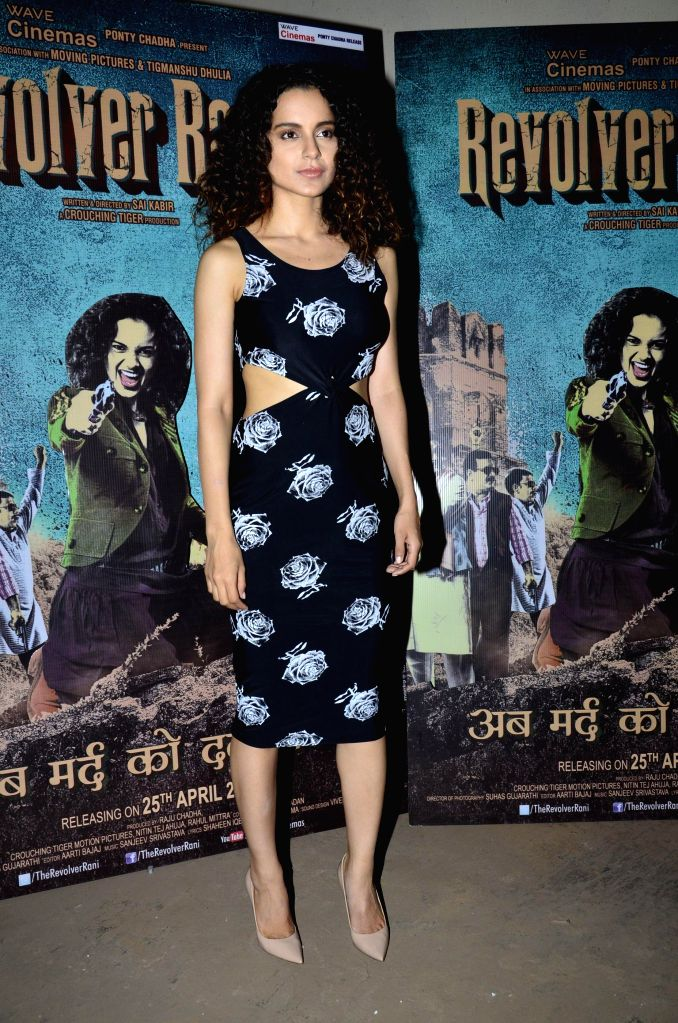 Actress Kangana Ranaut during the interaction with media to promotes upcoming film Revolver Rani in Mumbai on 22nd April 2014. - Kangana Ranaut