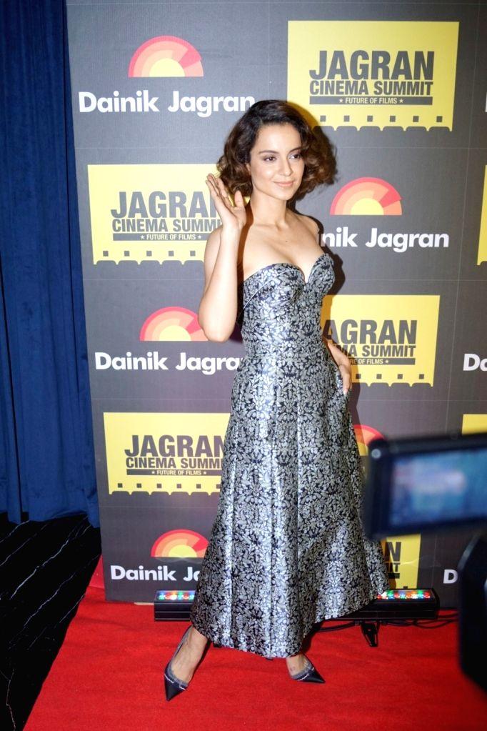 "Actress Kangana Ranaut during the ""Jagran Cinema Host Summit"" to Discuss Future of Film in Mumbai on Sept 15, 2017. - Kangana Ranaut"