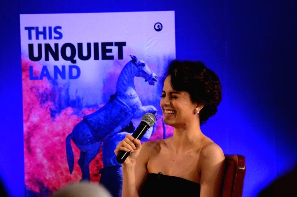 Actress Kangana Ranaut during the launch of Barkha Dutt`s book, This Unquiet Land, on Jan 14, 2016. - Kangana Ranaut