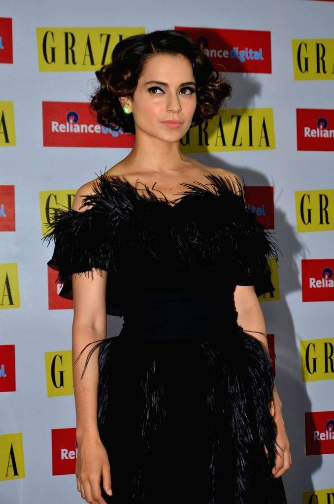 Actress  Kangana Ranaut during the launch of Grazia magazine's 100th Issue, in Mumbai  on June 29, 2016. - Kangana Ranaut