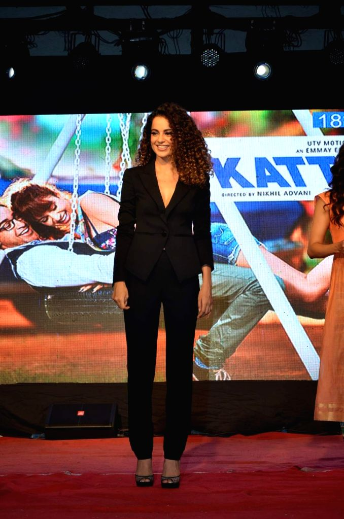 Actress Kangana Ranaut during the promotion of film Katti Batti at the college festival Umang 2015, in Mumbai, on Aug 17, 2015. - Kangana Ranaut