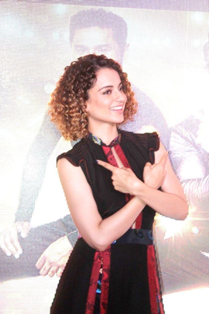 Actress Kangana Ranaut during the song preview of Tutak Tutak Tutiya in Mumbai on Sept 19, 2016. - Kangana Ranaut