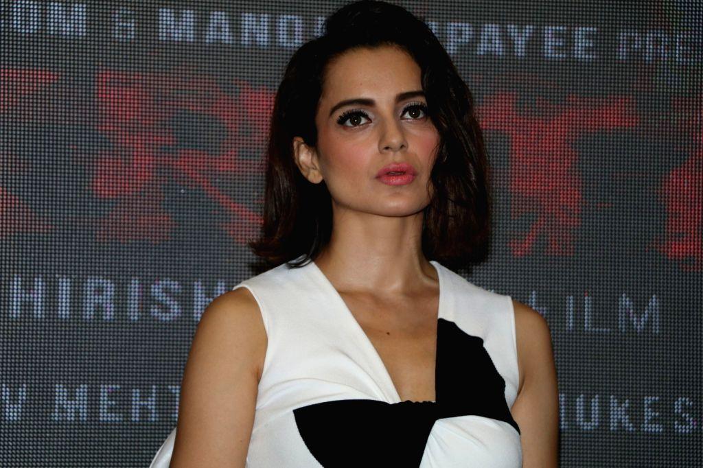 Actress Kangana Ranaut during the world premiere of the film Kriti in Mumbai on June 22, 2016. - Kangana Ranaut
