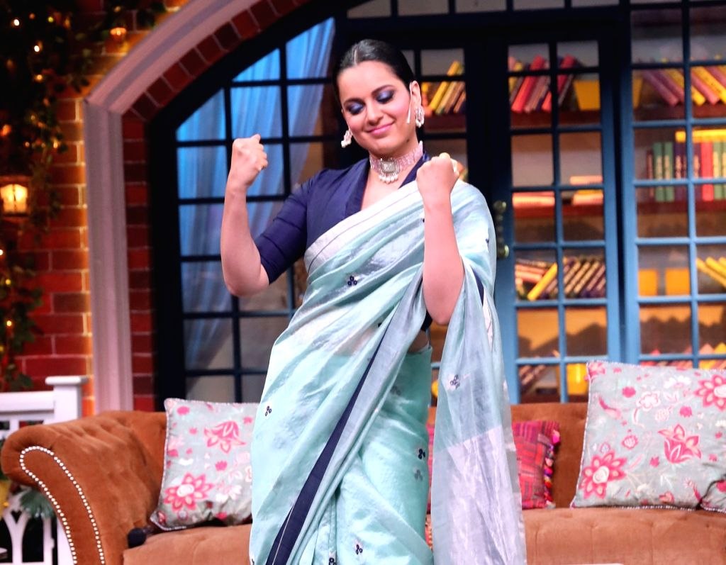 "Actress Kangana Ranaut on the sets of ""The Kapil Sharma Show"". - Kangana Ranaut"
