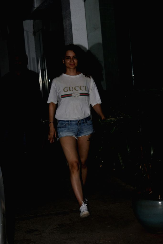 Actress Kangana Ranaut seen at a recording studio in Juhu, Mumbai on June 7, 2019. - Kangana Ranaut