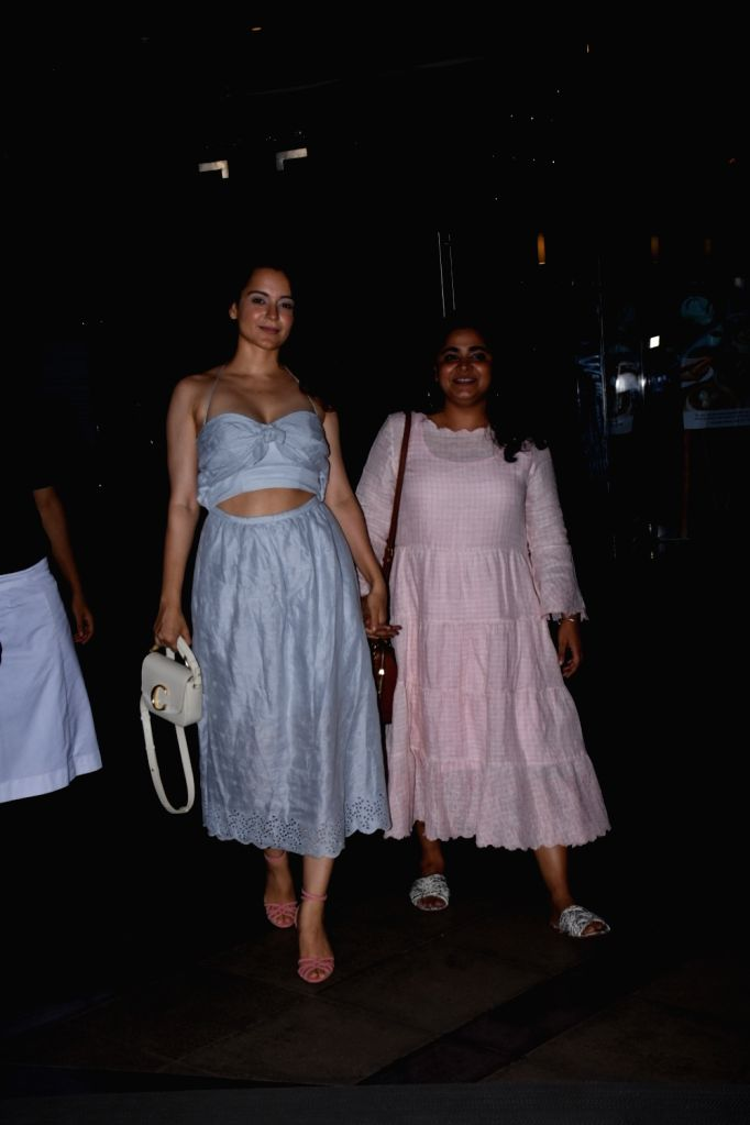 Actress Kangana Ranaut seen at Bandra in Mumbai, on Aug 28, 2019. - Kangana Ranaut