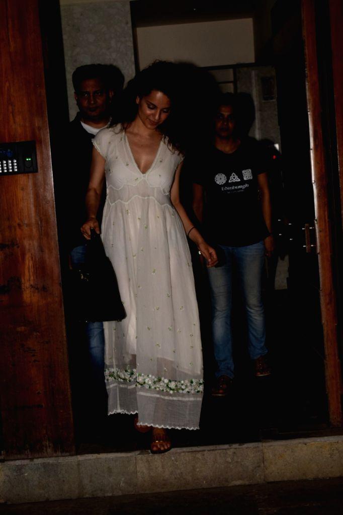 Actress Kangana Ranaut seen at Juhu, Mumbai on May 24, 2018. - Kangana Ranaut