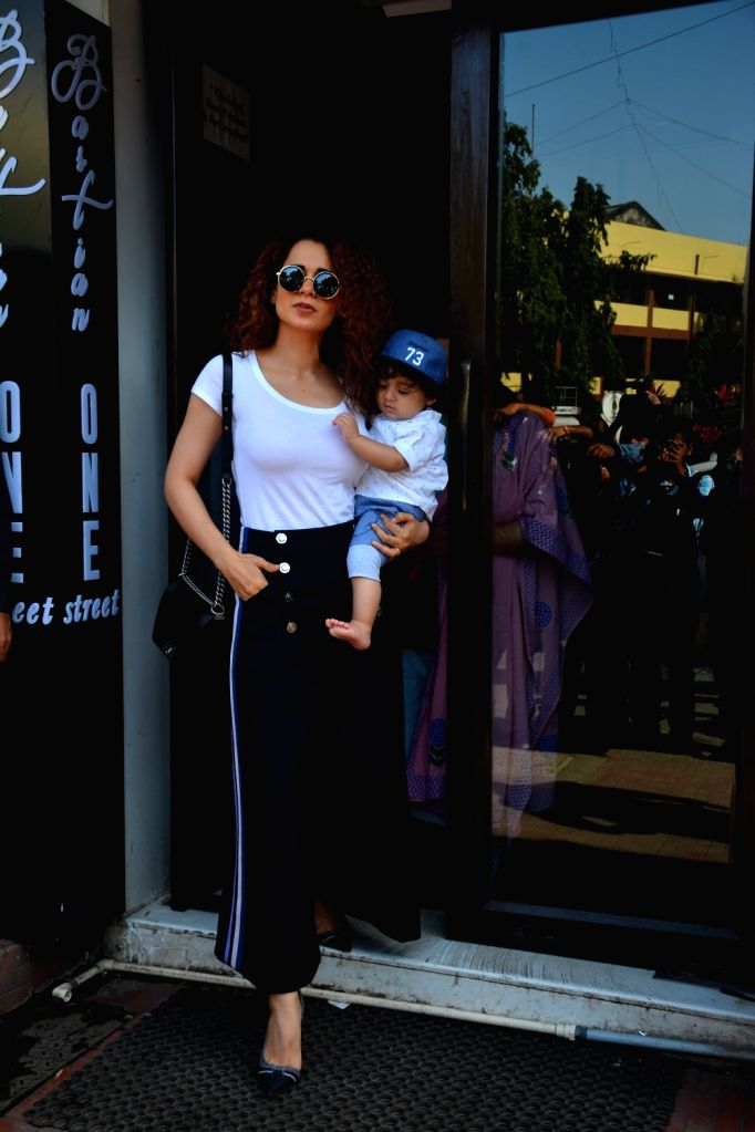 Actress Kangana Ranaut seen at Mumbai's Bandra Sept 8, 2018. - Kangana Ranaut