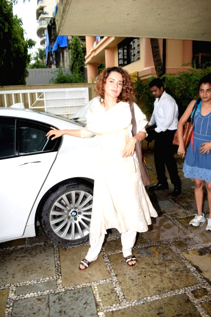 Actress Kangana Ranaut seen at Mumbai's Juhu on July 17, 2018. - Kangana Ranaut