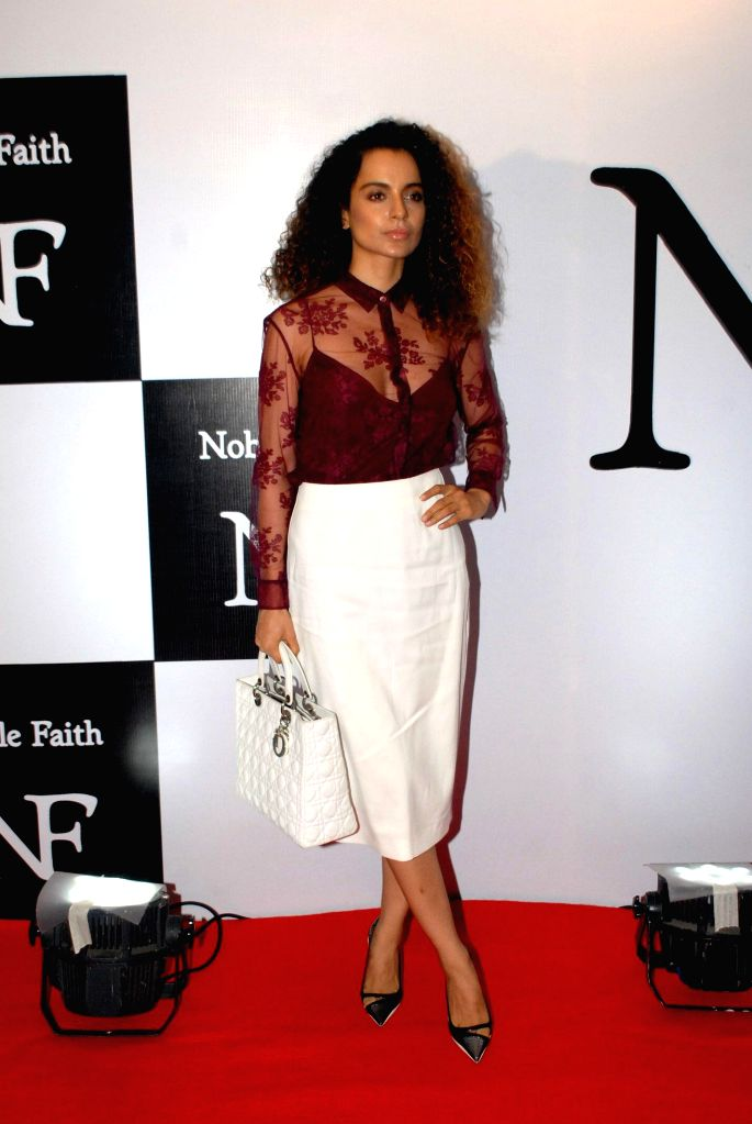 Actress Kangna Ranaut Godrej during the launch of the brand Noble Faith in Mumbai on Aug 14, 2014. - Kangna Ranaut Godrej