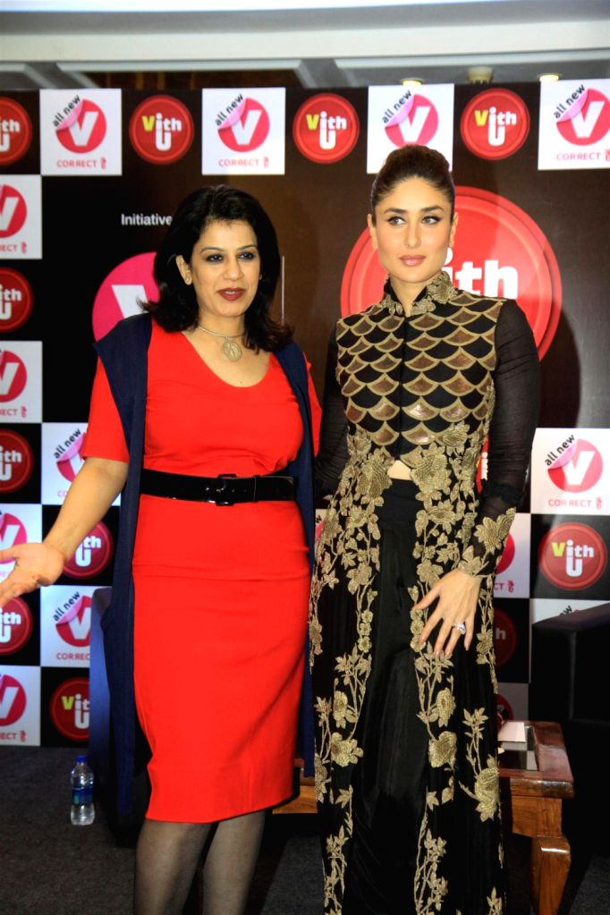 Actress Kareena Kapoor during the press conference to announce her association with Vith U mobile application at Taj Lands End in Mumbai on December 20, 2013. The application is to promote the cause . - Kareena Kapoor