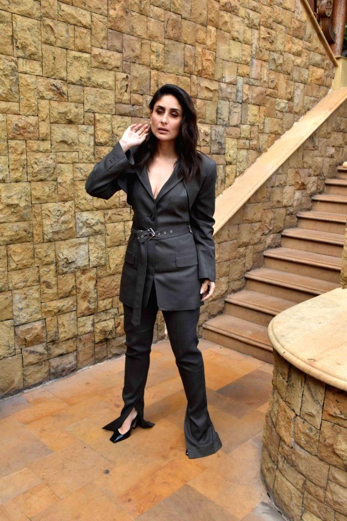 "Actress Kareena Kapoor during the promotions of her upcoming film ""Good Newwz"" in Mumbai on Dec 12, 2019. - Kareena Kapoor"