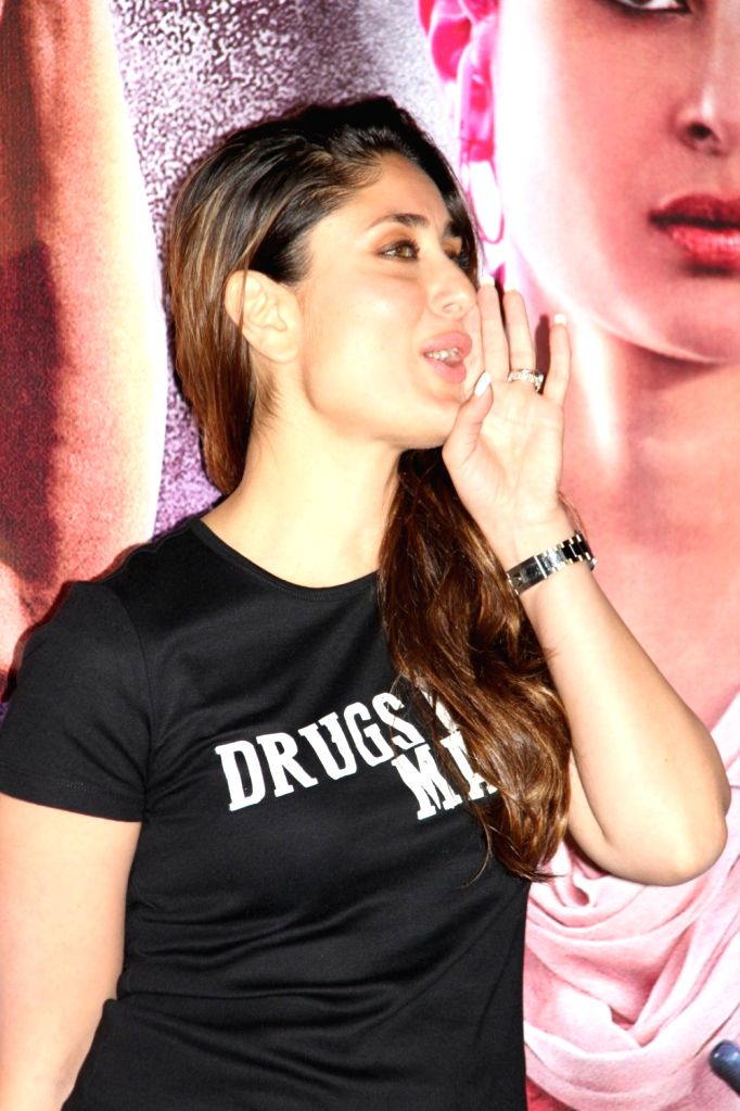 Actress Kareena Kapoor during the trailer launch of film Udta Punjab in Mumbai, on April 16, 2016. - Kareena Kapoor