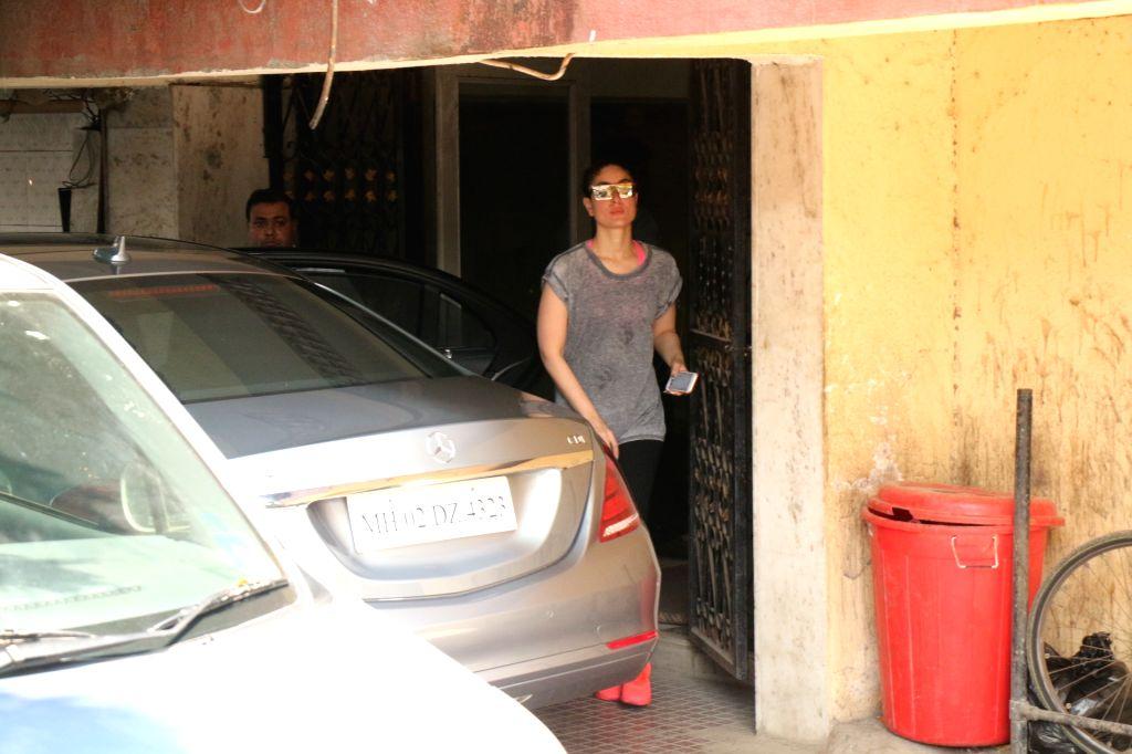 Actress Kareena Kapoor Khan at a gym in Mumbai on Feb 15, 2018. - Kareena Kapoor Khan