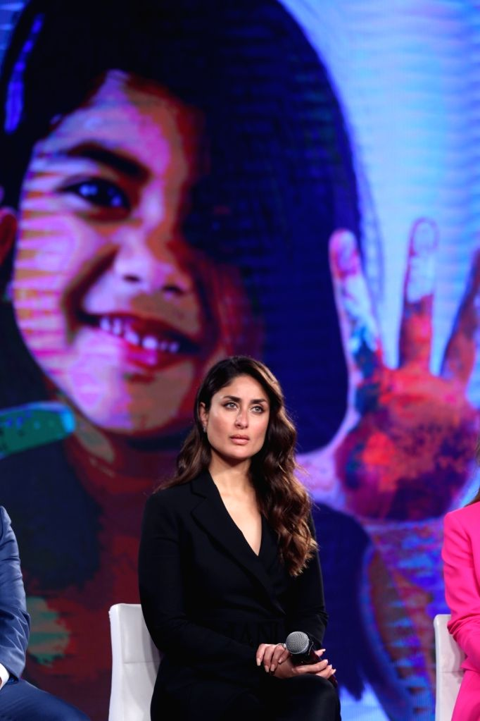 "Actress Kareena Kapoor Khan at the launch of the ""Swasth Immunised India"" campaign in Mumbai, on Feb 21, 2019. - Kareena Kapoor Khan"