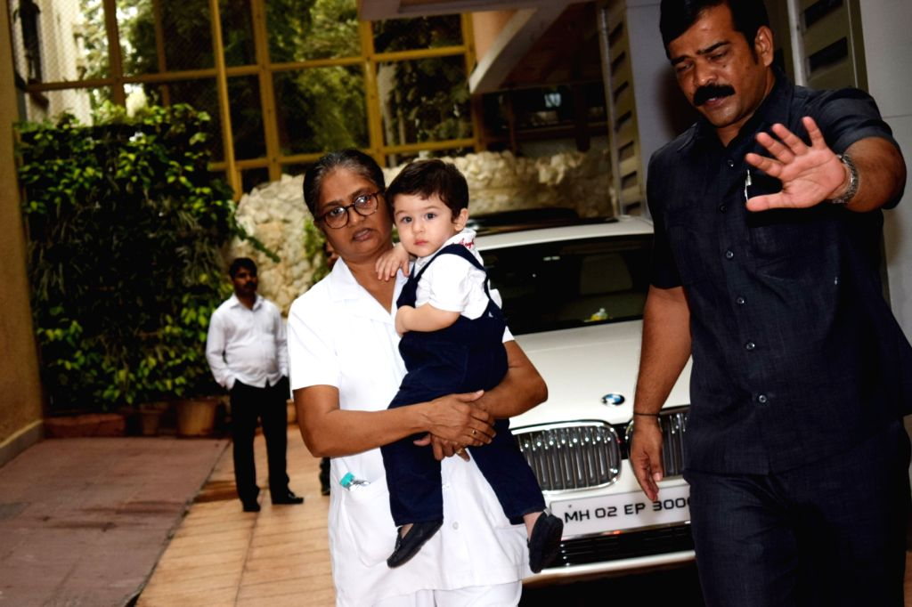 Actress Kareena Kapoor Khan's son Taimur seen at Tusshar Kapoor's son Laksshya's birthday party in Mumbai on June 1, 2018. - Kareena Kapoor Khan and Tusshar Kapoor
