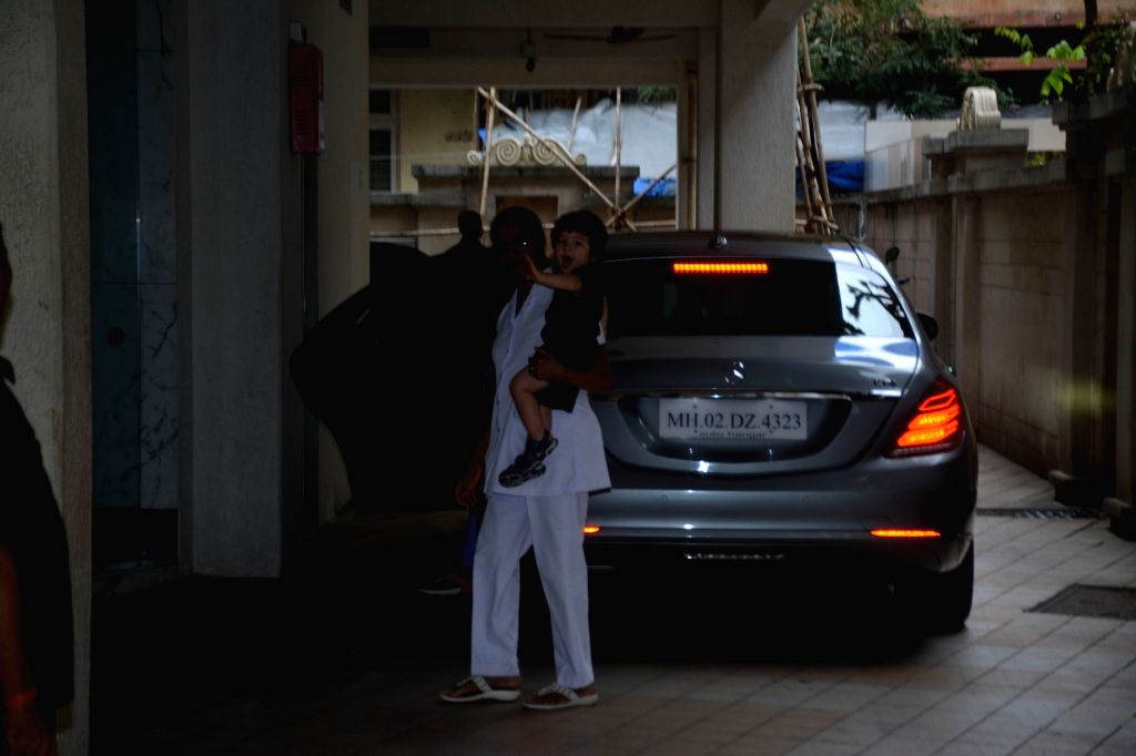 Actress Kareena Kapoor Khan's son Taimur seen at Mumbai's Bandra on Aug 8, 2018. - Kareena Kapoor Khan