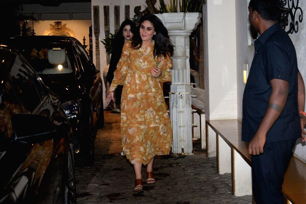 Actress Kareena Kapoor Khan seen outside actor Anil Kapoor's house in Mumbai, on Aug 28, 2019. - Kareena Kapoor Khan