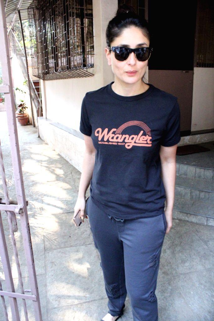 Actress Kareena Kapoor seen at a dubbing studio, in Mumbai on Feb 7, 2020. - Kareena Kapoor