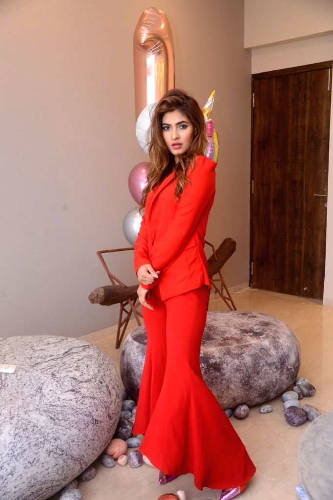 Actress Karishma Sharma during her photoshoot, in Mumbai on July 28, 2018. - Karishma Sharma