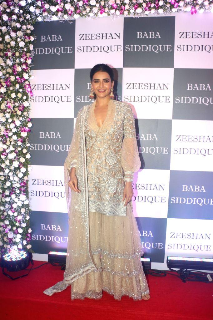 Actress Karishma Tanna at Congress leader Baba Siddique's Iftar party in Mumbai, on June 2, 2019. - Karishma Tanna
