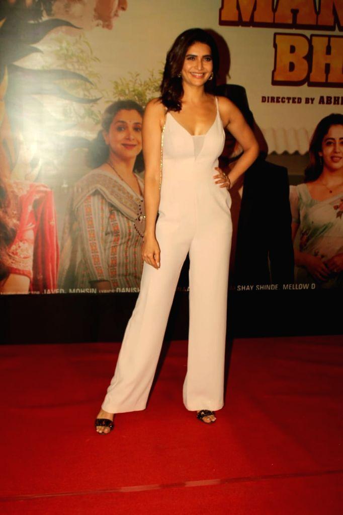 "Actress Karishma Tanna at the special screening of her upcoming film ""Suraj Pe Mangal Bhari"" at Andheri in Mumbai on Nov 12, 2020. - Karishma Tanna"