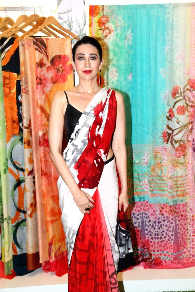 Actress Karisma Kapoor at the special preview of Satya Paul's 'Spring/Summer 19' collection in Mumbai, on Feb 6, 2019. - Karisma Kapoor