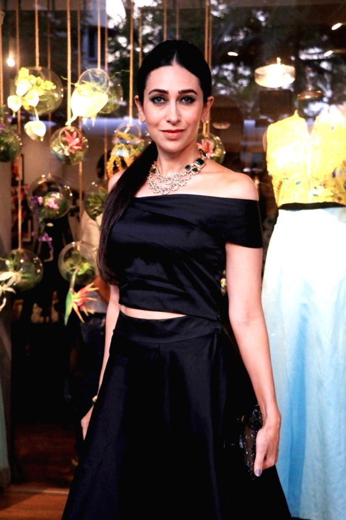 Actress Karisma Kapoor during the launch of fashion designer Amy Billimoria`s festive collection in Mumbai, on Aug 22, 2016. - Karisma Kapoor