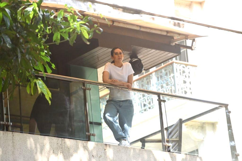 Actress Karisma Kapoor seen at her Bandra residence in Mumbai on Oct 27, 2020. - Karisma Kapoor