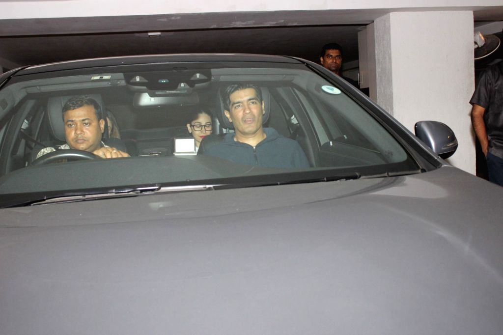 Actress Karisma Kapoor spotted at Karan Johar home in Mumbai on May 28, 2017. - Karisma Kapoor and Karan Johar